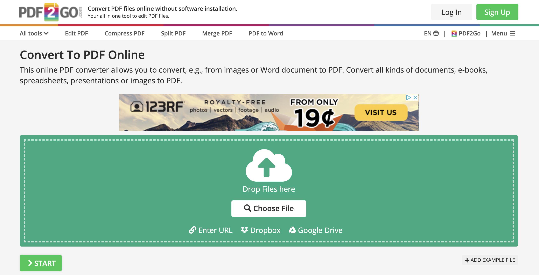 как из эксель онлайн сделать пдф (pdf) (сервисы конвертации) - pdf2go
