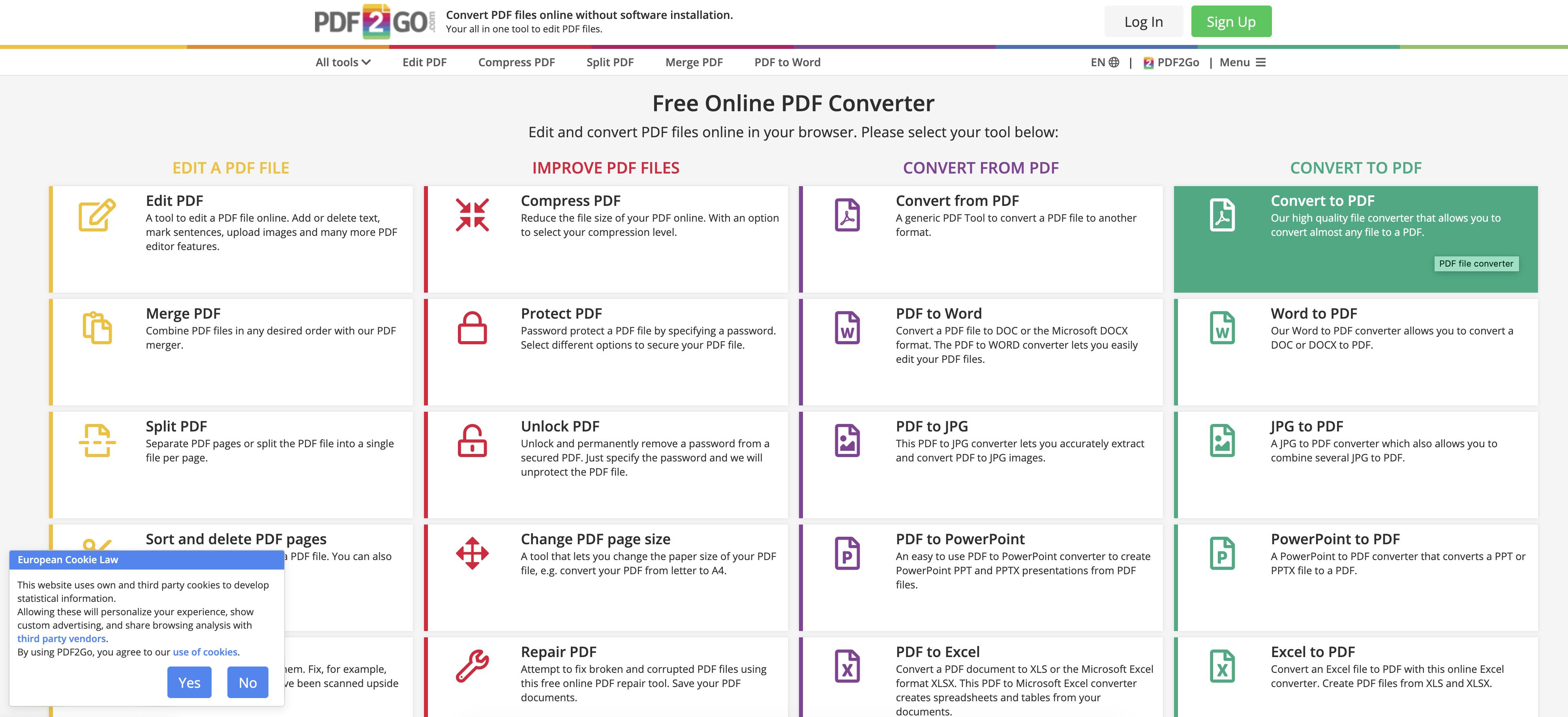 как из эксель онлайн сделать pdf